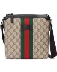 a627e3fa4 Gucci Web Techno Canvas Small Messenger Bag Black for Men - Lyst