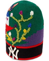 12e67d4434a Gucci - Wool Hat With Ny Yankeestm Patch - Lyst