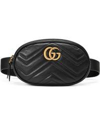Gucci - Sac ceinture GG Marmont en cuir matelassé - Lyst