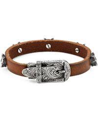 Gucci - Bracelet en cuir Anger Forest - Lyst 3f5c7102885