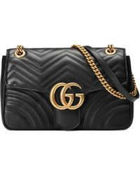 dfe445fa504d Gucci - GG Marmont Medium Matelassé Shoulder Bag - Lyst