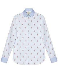 Gucci - Kingsnakes Fil Coupé Oxford Shirt - Lyst
