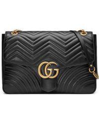 Gucci - Gg Marmont Matelassé Shoulder Bag - Lyst