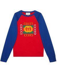 Gucci   Cotton Jersey Sweatshirt With Logo   Lyst
