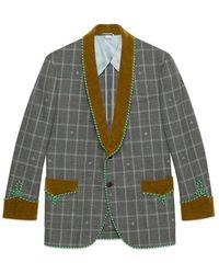b92c2373f Gucci Stamp Formal Jacket in Natural for Men - Lyst