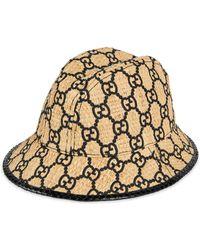 Gucci - Sombrero fedora GG con culebra - Lyst