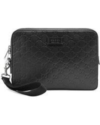 Gucci - Signature Leather Men's Bag - Lyst