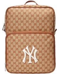 3b7d32f530bb68 Gucci - Medium Backpack With Ny Yankeestm Patch Pink - Lyst