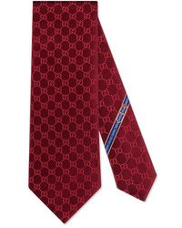 Gucci - Gg Patterned Silk Tie - Lyst