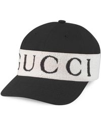 69c17c47643 Gucci -dapper Dan Gg Leather Hat in Black - Lyst