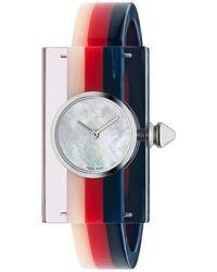 Gucci - Striped Plexiglas Watch - Lyst