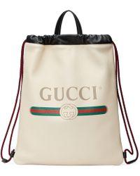Gucci - Print Small Drawstring Backpack - Lyst