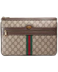 Gucci - Ophidia Gg Supreme Pouch - Lyst