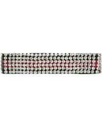 Gucci - Bandeau bande Web avec cristaux - Lyst