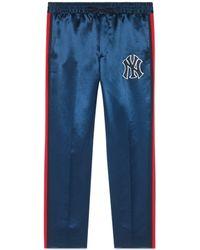 Gucci - Pantalone da jogging uomo con patch NY YankeesTM - Lyst