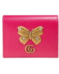 Butterfly-embellished leather wallet Gucci VA22g