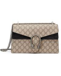 17647eac8f7 Gucci Dionysus Suede Mini Bag in Black - Lyst