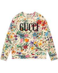 Gucci - Sweat-shirt oversize à imprimé - Lyst