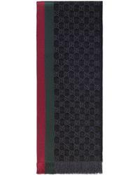 Gucci Écharpe tricotée jacquard motif GG