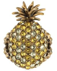 Gucci Crystal pineapple ring XliEAgSmLB