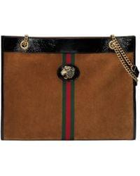 Gucci - Borsa shopping Rajah misura grande - Lyst