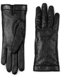 Gucci - Gants en cuir Signature - Lyst