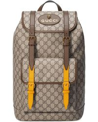 f8c49760640 Lyst - Gucci Gg Supreme Backpack With Angry Cat for Men