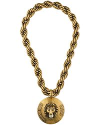 Gucci - -dapper Dan Lion Head Necklace - Lyst