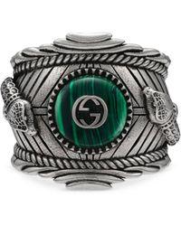 Gucci - Garden Ring In Silver - Lyst