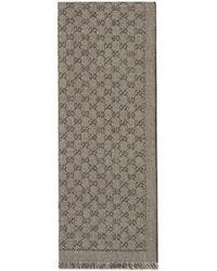 Gucci - Schal aus GG Jacquard aus Wolle - Lyst