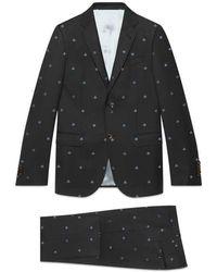 Gucci - Monaco Bees Wool Gabardine Suit - Lyst