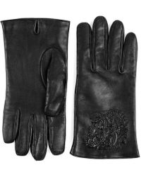 Gucci | Tiger Embossed Leather Gloves | Lyst