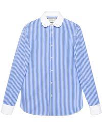 Gucci - Striped Cotton Shirt - Lyst