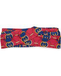 Gucci - Kopfband mit GG Rhombus-Print - Lyst
