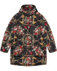 Gucci - Doudoune à fleurs - Lyst