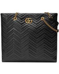 Gucci - Grand cabas matelassé GG Marmont - Lyst