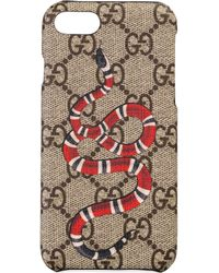 Gucci - Cover per iPhone 8 con stampa Kingsnake - Lyst
