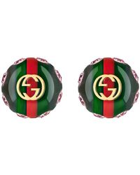 Gucci - Vintage Web Earrings - Lyst
