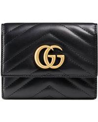 e279198212 Gucci - Portafoglio GG Marmont matelassé - Lyst