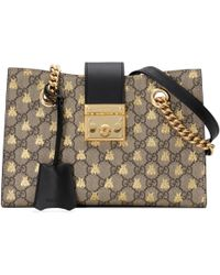 3240c30ff1e Lyst - Gucci GG Quilted Mini Round Crossbody Bag in Metallic