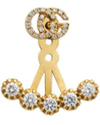 Gucci - Single Gg Running Earring With Diamonds - Lyst