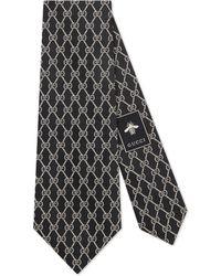 Gucci - Cravatta in seta motivo catene GG - Lyst