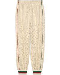 Gucci - Flower Lace Jogging Pant - Lyst