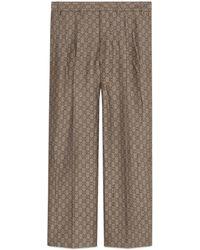 Gucci - Förmliche Hose aus GG Wollcanvas - Lyst