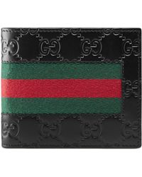 Gucci - Signature Web Coin Wallet - Lyst