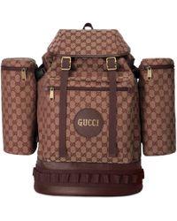 Gucci - Mochila Grande de Lona con GG - Lyst