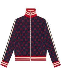 Gucci - Jacke mit Monogrammmuster - Lyst