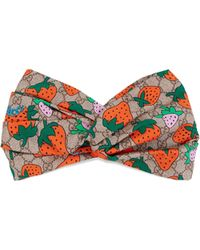 aa473dafb95 Gucci - GG Headband With Strawberry Print - Lyst