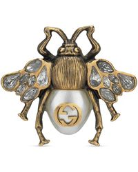 Gucci - Multi-finger Ring With Bee - Lyst