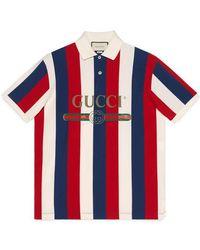 Gucci - Polo à rayures baiadera et logo - Lyst